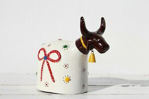 1950s Brazilian, Manuel Eudocio Folk Art, Cow Figurine, Earthenware