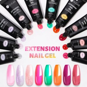 Glitter Extension Nail Gel 15ml Silver Varnishes Hybrid Extension Semi-permanent
