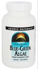 SOURCE NATURALS - BLUE-GREEN ALGAE FROM KLAMATH LAKE  500 MG. - 200 TABLETS
