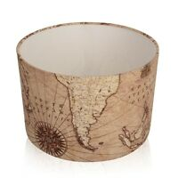 New Vintage Brown Old World Map Lampshade,Ceiling pendant Table lamp, Cushions