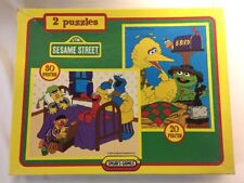 Sesame Street ,2 Puzzle Jigsaw Set Jim Henson Productions - 1996 - Spear's Games