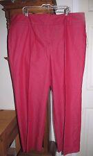Women's Larry Levine Curvy Fit Pants Red Plus Size 22W -RTL $44 - NEW W/ TAGS