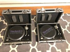 2 Technics SL-1210 M5G Turntables with SHURE Needles, Flight Cases & More!