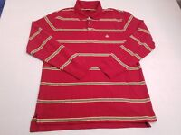 Brooks Brothers Mens Red Yellow Striped Long Sleeve Polo Size Large