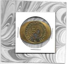PENNINGTON GAP, VA - Lee Coal Co. Scrip Token Good For 50c -Lee County, Virginia