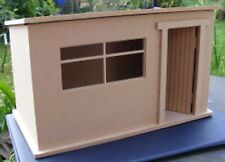 1:12 Scale Large Flat Pack Wooden MDF Garden Tool Shed Dolls House Miniature Kit