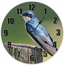 "10.5"" TREE SWALLOW BIRD CLOCK - Large 10.5"" Wall Clock - Home Décor Clock - 3113"