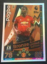 match attax 2018/2019 18 / 19 Paul Pogba Bronze Limited Ltd Edition