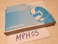 Manuel propriétaire Honda CBR600F CBR600 F CBR 600 F Owner's manual ed. 97