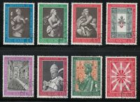 """Vatican 1962 CTO Sc 345-352 """"the Three Theological Virtues"""" by Raphael"""