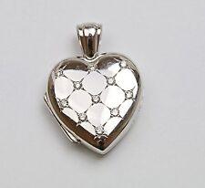 18 Karat White Gold heart  Locket with Diamonds by Charles Green