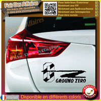 lot de 2 stickers autocollant ground zero tuning sono sponsor decal