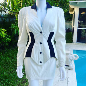 Vintage Thierry Mugler suit 1980's 42