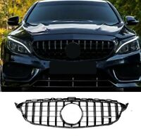 FOR MERCEDES W205 C CLASS GRILLE AMG GT GTR STYLE W205 2015-2018 GRILLE GRILL