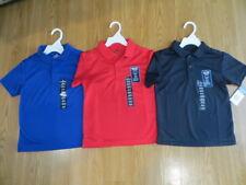 21d93d57f T Shirt Boys Chaps Performance Polo Navy Solid School Uniform Polyester L  (7)