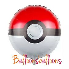 """18"""" Pokemon  Poke Ball Balloon Helium Party Birthday Decoration"""
