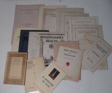 20 pc Lot 1930s Public Health Paper- American Heart Assc., TB Hospital Booklet+!