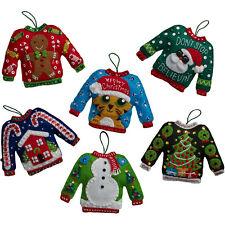 Felt Embroidery Kit ~ Plaid / Bucilla Ugly Sweater Christmas Ornaments #86674