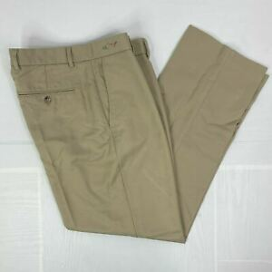Greg Norman Mens Pants sz W 32 L 30 Tan Golf Pleated Classic Chino Active Casual