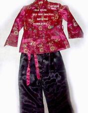 Quality Vintage Old/New Old Stock Never Worn Oriental Satin Set Pjs Medium