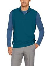 New adidas Men's Club 1/4-Zip Climacool Zonal Cooling Golf Vest Petrol Night L