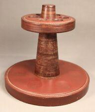 Very Fine Vintage WOOD & LEATHER 6 Pipe Rack Stand Rest Holder Pipa Pfeife Tuyau