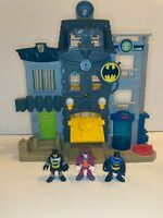 ORIGINAL Vintage 2013 Mattel Imaginext Batman Gotham Joker Playset & 3 Figures