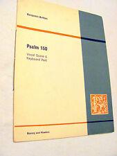 PSALM 150, Benjamin Britten, Vocal score SA choir w piano