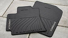 NEW ALL WEATHER MATS (BLACK) 2009 2010 2011 2012 2013 TOYOTA COROLLA 4 PIECE SET