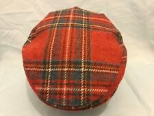 GENTS SCOTTISH WOOL ROYAL STEWART TARTAN PLAID FLAT CAP DIRECT FROM SCOTLAND