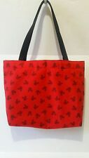 MICKEY MOUSE SILHOUETTE PRINT FABRIC TOTE BAG - RED