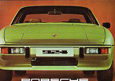 PORSCHE 924 large format brochure & Tech Spec brochure - 1977 - mint