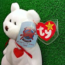 Magnificent Special Olympics Ty Beanie Baby Valentino Bear 1998 W/ Canadian Tush