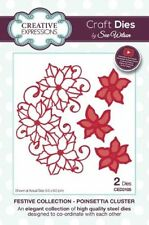 Creative Expressions Festive Collection- Poinsettia Cluster CED3105