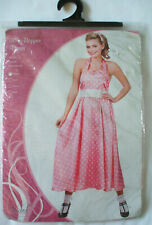 "Ladies pink & white ladies ""50's Bopper Outfit"" from Wicked Costumes XSmall NEW"