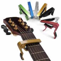 New Quick Change Folk Acoustic Electric Guitar Capo Clamp Ukulele Banjo Bass