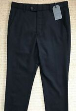 Wool Patternless Casual Trousers for Men
