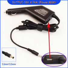 Laptop DC Adapter Car Charger + USB for Acer Aspire 1351LC 1352LC 1353LC