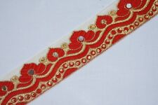 Indian Culture New Trims Border Antique Hand Beaded Work Lace Ribbon