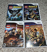 LEGO Batman 1 & 2 / Indiana Jones / Lord Of The Rings Nintendo Wii Lot