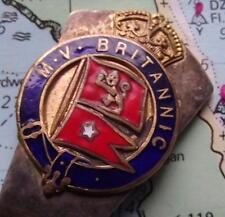 c1930 White Star Line MV Britannic Pennant Enamel Caddy Spoon