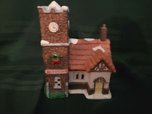 Dickens Holiday Expressions Christmas Lighted Village House WatchMaker