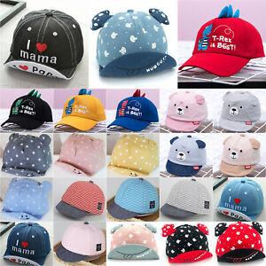 Toddler Kids Baby Boy Girl Casual Summer Baseball Cap Cartoon Snapback Sun Hats