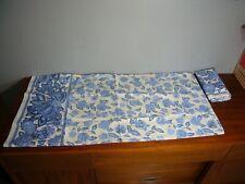 Vintage WESTPOINT STEVENS FLORAL WHITE BLUE TOLE (2) KING PILLOWCASES 19 X 39 EC