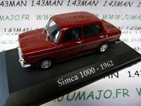 RBA3M voiture 1/43 RBA Italie IXO : SIMCA 1000 1962 bordeaux