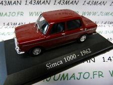 RBA3M Car 1/43 Rba Italy Ixo : Simca 1000 1962 Wine Red