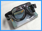 GOGGLES CLASSIC STYLE MOTORCYCLE/ FLYING. EMGO CHROME FR. ANTI FOG TINTED LENS.