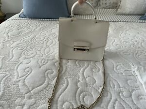Furla Bag Julia Top Handle Mini Saffiano White Leather
