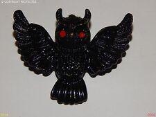 steampunk jewellery brooch badge owl gothic black enamel Harry Potter inspired