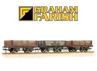 Graham Farish 377-065 5 Plank Wagons Coal Trader Triple Pack (Weathered) N Gauge
